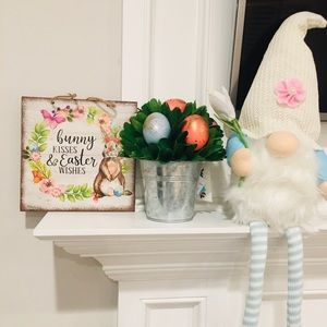 Bunny kisses & Easter Wishes sign!🐣🥕🐰